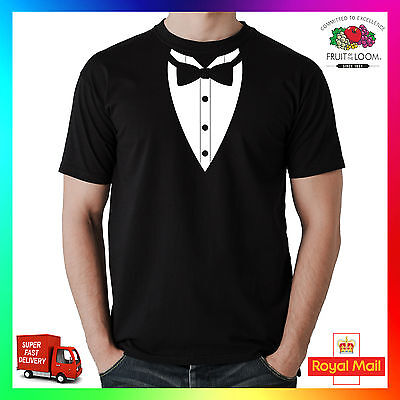 £11.99 • Buy Bow Tie Tee Tshirt T-Shirt Dicky Dickie Tux Tuxedo Funny Mens Cool Suit Smart