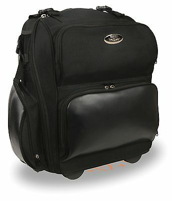 $ CDN138.21 • Buy Large Textile Roll Away Luggage Sissy Bar Bag W/ Gun Holster Fits Most Harley's
