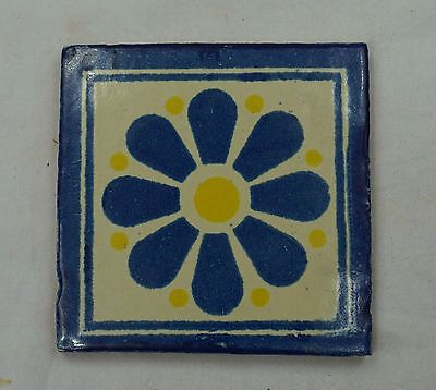 16 X Ceramic Mexican Wall Tile Hand Painted-Made Mexico Terracotta Tiles R19 • 14.99£