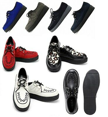 £39.99 • Buy Mens Womens Flat Platform Teddy Boy Lace Up Goth Punk Creepers Shoes Boots Size