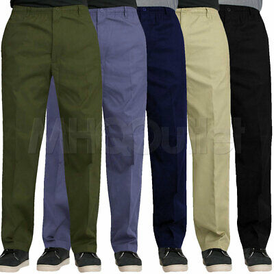 Mens Elasticated Waist Work Casual Rugby Trousers Pants Smart Rugby Trousers  • 13.95£
