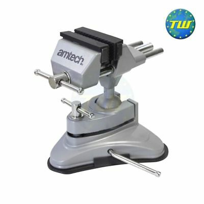 Rubber Suction Base Table Top Bench Vise Vice 360 Tilts Adjustable Rotates Clamp • 12.83£