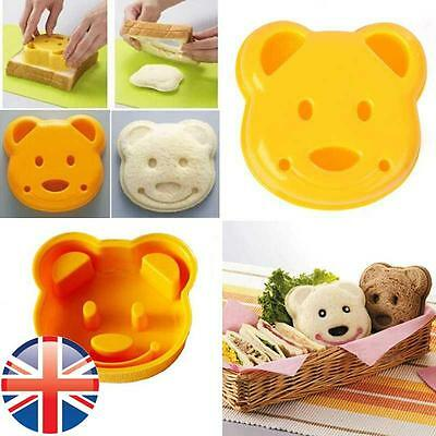 *UK Seller* Children Kids Bear Shaped Sandwich Crust Cutter Mould Stamp Lunch • 3.67£