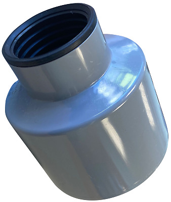 £14.55 • Buy Waste Pipe To Soil Pipe Adapter Cap Pipe Reducer 110mm To 50mm (55mm) 2  Grey