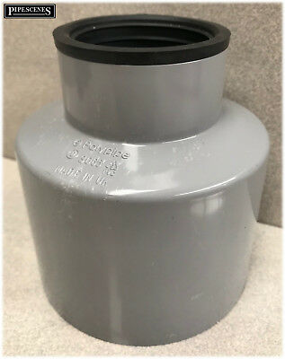 Waste Pipe To Soil Pipe Adapter Cap Pipe Reducer 110mm To 50mm (55mm) 2  Grey • 14.99£
