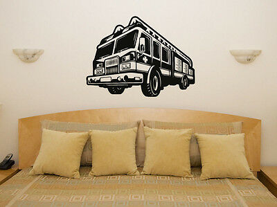 £41.15 • Buy Fire Engine - Truck - Vehicle Wall Art Decal Sticker Picture Poster