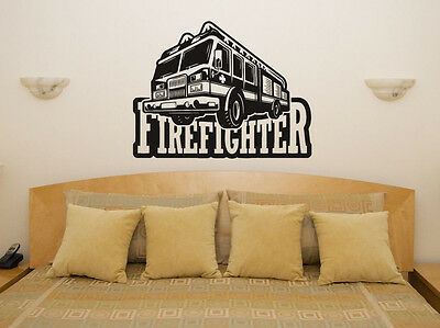 £47.41 • Buy Firefighter Fire Engine - Truck - Vehicle Wall Art Decal Sticker Picture Poster