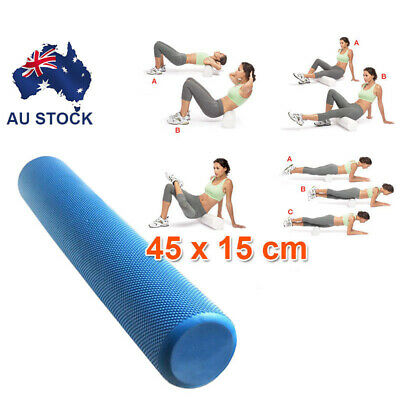 AU21.62 • Buy 45x15cm EVA PHYSIO FOAM AB ROLLER YOGA PILATES EXERCISE BACK HOME GYM MASSAGE