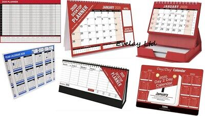 2020 Flip Week / Year To View Desk Top Stand Up Office Home Planner Calender • 2.99£