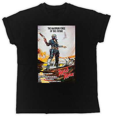 £9.99 • Buy Mad Max Movie Poster Mel Gibson Cool Poster Short Sleeve Black Men T Shirt