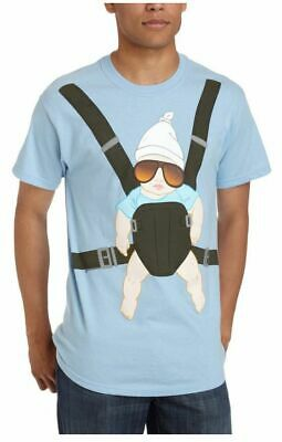 Adult Light Blue Comedy Movie The Hangover Alan Carlos Baby Carrier T-shirt Tee • 17.43£