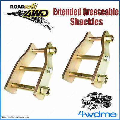AU202.50 • Buy Pair Rear 2  Fits Toyota Hilux N80 GUN126 4WD Roadsafe Extended Shackles