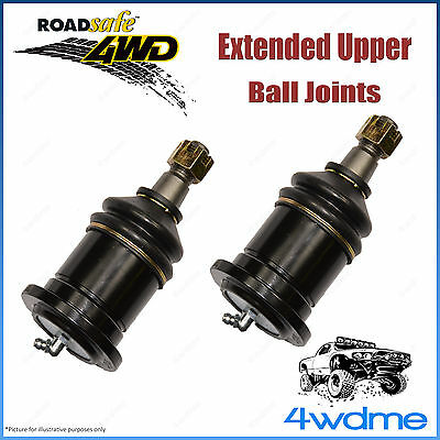 AU156 • Buy Pair Fits Toyota Hilux KUN26 4WD Roadsafe Extended Upper Ball Joints 2005 On+