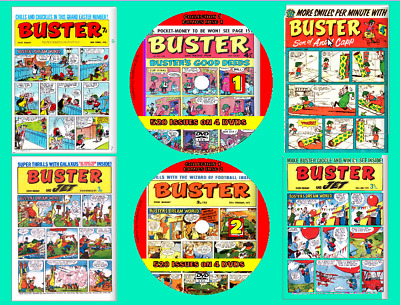 BUSTER Comics On DVD 262 Issues Includes Viewing Software (Disk 1) • 1.19£