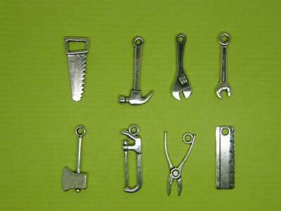 £1.95 • Buy The Tool Charm Collection -8 Different Antique Silver Tone Charms
