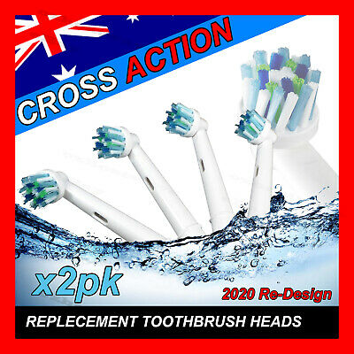 AU11.28 • Buy CROSS ACTION Oral B Compatible Electric Toothbrush Replacement Brush Heads X8