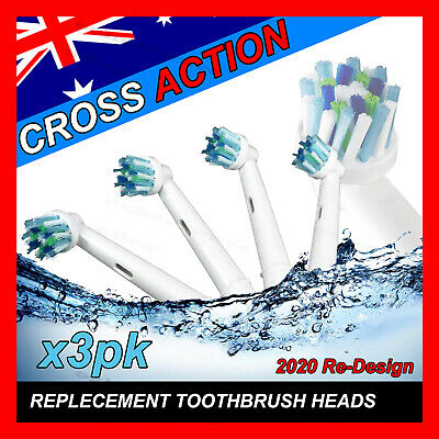 AU15.97 • Buy CROSS ACTION Oral B Compatible Electric Toothbrush Replacement Brush Heads X12