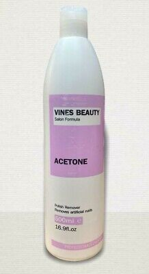 £7.99 • Buy 100% Pure Acetone Nail Polish Remover For Artifical Nail 500ml   Vines Beauty