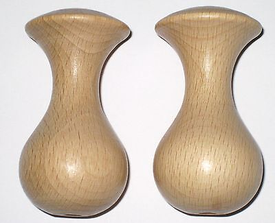 £4.99 • Buy Wooden Polished Natural Beech Wood Cord Pull, Light Pull, Pack Of 2