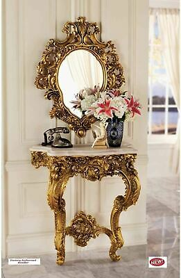 $1119.94 • Buy French Rococo Style  17C Madame Antoinette 35  Wall Console Table And Mirror Set