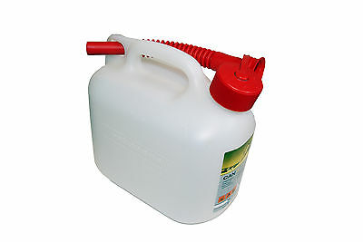 £9.96 • Buy 5 Litre Petrol Fuel Can Transparent Clear Chainsaw Etc Suits Motorcycle User's