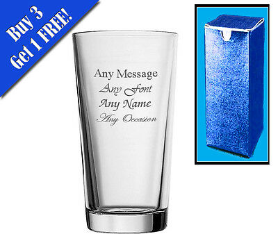 Personalised Engraved Perfect Pint Glass, Lager, Beer, Not Tankard Birthday  • 7.95£
