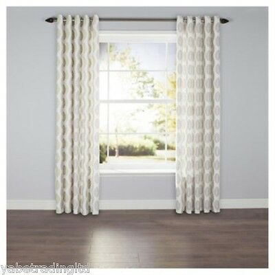 £16.99 • Buy Green Leaf Print Lined Eyelet Curtains 64  X 54  Bedroom Lounge New Drapes Decor