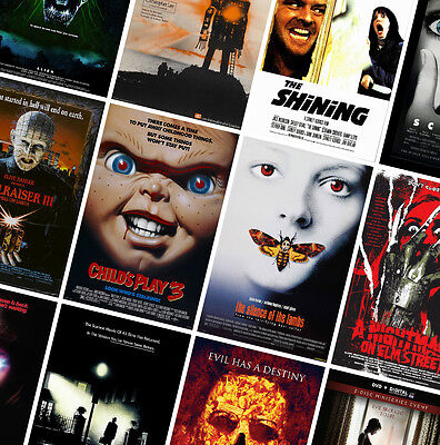 CLASSIC HORROR MOVIE POSTERS - A4 - A3 - A2  HD Prints - Jaws, Shining, Exorcist • 7.49£