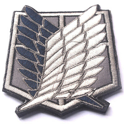 AU7.51 • Buy Attack On Titan The Survey Corps Badge Wings Of Freedom 3D EMBROIDERY HOOK PATCH