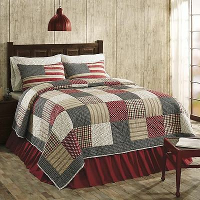 £104.75 • Buy Victory Americana **King Size** 3 Pc Quilt Set Cotton Patchwork Comforter+Shams