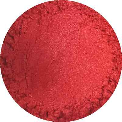 £2.99 • Buy Fiery Red Cosmetic Mica Powder 3g-50g Pure Soap Bath Bomb Colour Pigment