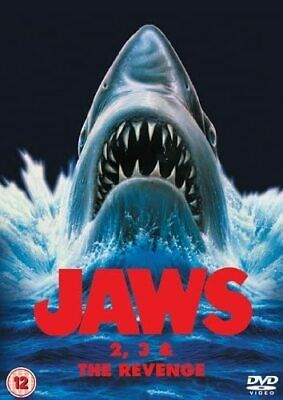 JAWS 2 / JAWS 3 / JAWS 4 REVENGE DVD COLLECTION MOVIE FILM Original UK Releas R2 • 13.99£