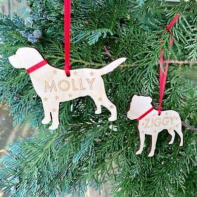 Personalised Christmas Decoration Dog Puppy 1st Gifts Pet Memorial Bauble Gifts • 5.95£