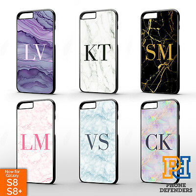AU9.21 • Buy PERSONALISED MARBLE MONOGRAM INITIAL Phone Case For IPhone 12 11 Pro XR X 8 7 6