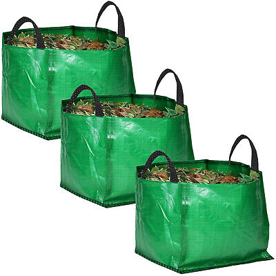 £17.29 • Buy 3 X Large Garden Waste Recycling Tip Bags Heavy Duty Non Tear Woven Plastic Sack