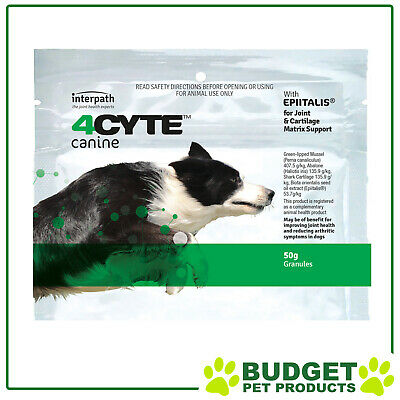 AU45.16 • Buy 4CYTE Canine Joint Support For Dogs 50gm