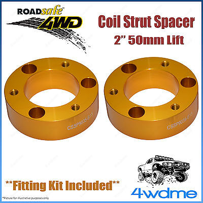 AU166.50 • Buy Pair Fits Toyota Hilux KUN26 4WD Roadsafe Front Coil Strut Spacer 2  50mm Lift