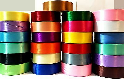 £27.99 • Buy 24mm SILK SATIN RIBBON X 25 DEMANDING COLOURS FOR SEWING FABRIC DESIGN PIPPING