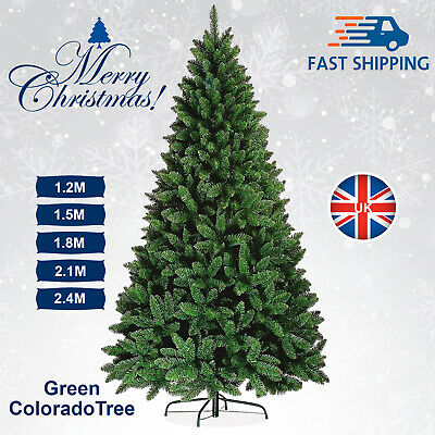 4ft / 8ft Christmas Tree Colorado Green Pine Artificial Traditional Spruce Xmas • 35.99£