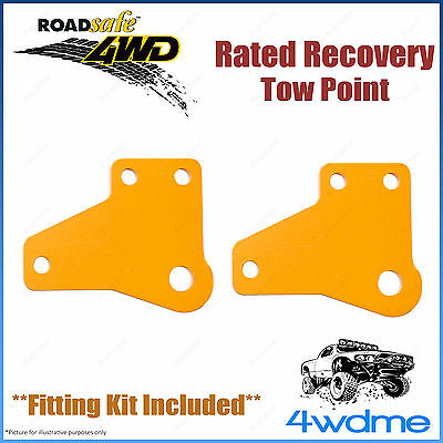 AU148.50 • Buy Fits Toyota Hilux KUN26 4WD Roadsafe Rated Recovery Heavy Duty Tow Points Kit