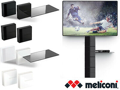 Meliconi AV Wall Mounted Modular Shelf Cable Tidy Cover Speaker DVD Sky Box  • 18.99£