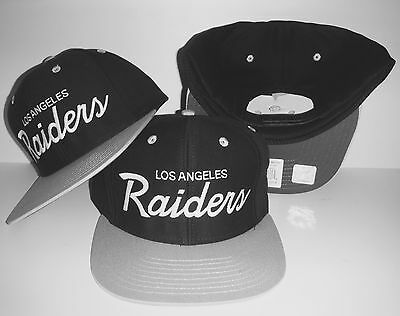 7c31c9e47f1 Los Angeles Raiders Script Snapback NEW Authentic LA Hat Oakland Cap •  19.99