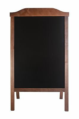 Wooden A-board, Pavement Sign, Sandwich, Black Board Stand Engrave Chalk Code Ro • 45£
