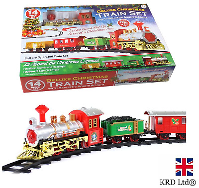 CHRISTMAS EXPRESS Holiday Festive Train Set Toys Track Light & Sound Xmas Gift • 20.39£