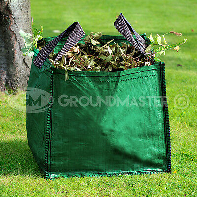 £8.99 • Buy GroundMaster 120L Garden Waste Bags - Heavy Duty Large Refuse Sacks With Handles