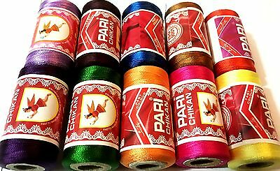 10 Embroidery Spools Sewing Machine Silk Threads Best 4 BROTHER-JANOME-GUTERMAN • 5.49£