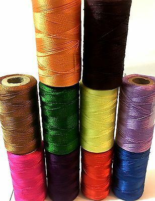 10 Vibrant Embroidery Spools Sewing Machine Silk Threads BROTHER-JANOME-GUTERMAN • 5.49£