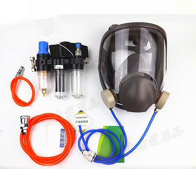 £39.99 • Buy Three-In-One Function Supplied Air Fed Respirator System 6800 Full Face Gas Mask