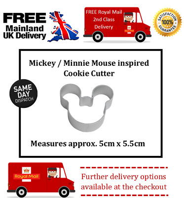 £2.99 • Buy Mickey / Minnie Mouse Biscuit / Cupcake / Sugar Craft / Fondant/ Cookie Cutter