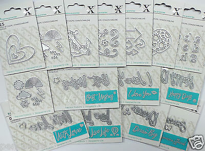 Xcut Mini Die Birthday Zodiac Relations Sentiments Thank You Love Tags Alphabet • 1.99£